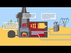 Vídeo esquemático del funcionamiento de una central térmica, de #combustible_fósil en este caso. Las centrales térmicas calientan agua para generar vapor que mueva la turbina conectada al generador, pero puede cambiar el combustible (petróleo, carbón, gas, biomasa...)
