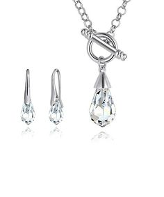 Look at this Crystal Teardrop Necklace & Drop Earrings Made With SWAROVSKI ELEMENTS on #zulily today!