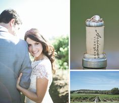 """This wedding at Lilac Farms at Arrington is so sweet and we sure love all those """"wine"""" details! You can call them about your wedding by clicking the image link. Image credit: Kaitie Bryant Photography."""