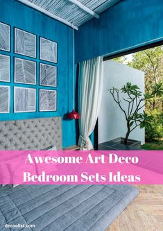 Art deco is a jazzy style with straight lines, geometric and abstracted shapes used in building, furniture and decorative details. This style is focused Art Deco Bedroom, One Bedroom, Bedroom Sets, People Sleeping, Building Furniture, Geometric Form, Straight Lines, Fantastic Art, Art Deco Fashion