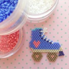 So excited to share my first original design! Pony Bead Patterns, Peyote Stitch Patterns, Beaded Jewelry Patterns, Beading Patterns, Seed Bead Projects, Beading Projects, Brick Stitch Earrings, Peler Beads, Peyote Beading
