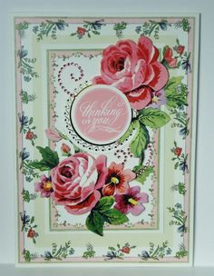 Pretty Paintings Thinking Of You Handmade Greeting Card Anna Griffin Inspired #ThinkingofYou