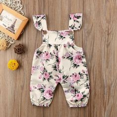 2018 Brand New Newborn Toddler Infant Baby Girl Strap Flower Romper Jumpsuit Outfit Sleeveless Sunsuit Baby Summer Clothes - Newborn Fashion, Newborn Outfits, Toddler Fashion, Toddler Outfits, Kids Fashion, Girl Outfits, Fashion Spring, Trendy Fashion, Baby Girl Romper