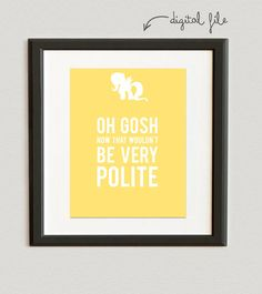 DIGITAL FILE // Oh Gosh Now That Wouldn't Be Very Polite- Fluttershy- My Little Pony- Banana color on Etsy, $6.00