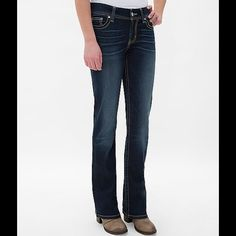 "BKE Dakota bootcut Dark curvy fit bootcut denim. Hemmed to 29 1/2"" but can be let out to 31 1/2"". BKE Jeans Boot Cut"