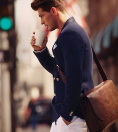 Great coat, even better bag!  #men #style #coat #bag