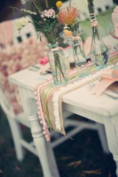 Pastel party outdoors
