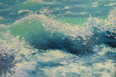 Купить Морская волна - морская волна, картина в подарок, картина, картина для интерьера, картина маслом