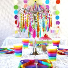 Keep these Rainbow Cups handy near your refreshment table for easy access to your party punch! Find our entire selection of rainbow party supplies and party . Rainbow Unicorn Party, Rainbow Birthday Party, Rainbow Wedding, Unicorn Birthday Parties, Birthday Ideas, 4th Birthday, Garden Birthday, Fairy Birthday, Glow Party