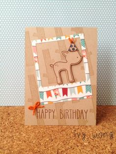 Lawn Fawn - Into the Woods, So Much to Say, Hats Off to You, Dewey Decimal paper, Say Cheese Lawn Cuts die, Retro Lawn Trimmings Twine _ Adorable birthday card by Ivy at i should be sleeping but......