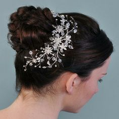 Large Diamante Bridal Hair Comb on- line at ayedo.co.uk