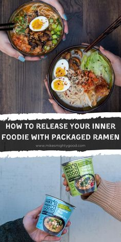 Whether you're just getting started on cooking your favorite foods at home or you're a seasoned professional, high quality instant ramen made with great ingredients is the perfect canvas for your creativity! So, how do you turn a package of craft instant ramen into a creation like one you'd find out at a ramen bar? Check out our post to learn how! #ramen #foodie Tofu Ramen, Ramen Bar, Ramen Restaurant, Ramen Flavors, Ramen Toppings, All You Need Is, Garlic Fried Chicken, How To Make Ramen