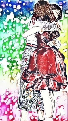 senup: 乃木坂46 橋本奈々未 白石麻衣 iPhone用ロック画。あの場面をイラスト風加工。 | 日々是遊楽也