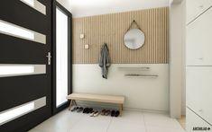 ARCHILAB architekti - interiér rodinného domu v Borinke, predsieň rodinného domu Bratislava, Bathroom Lighting, Architekti, Entrance, Door Handles, Mirror, Furniture, Home Decor, Bathroom Light Fittings