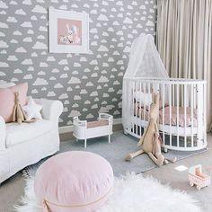 This nursery has us on cloud nine. (Couldn't resist!) via @oh.eight.oh.nine
