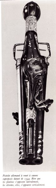 German Double Wheel-lock pistol, c. 1544