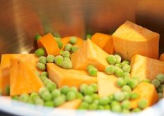 Salmon, Sweet Potato and Pea Puree for Baby - MummyCooks