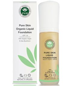 PHB Ethical Beauty Pure Skin Organic Liquid Foundation +SPF 30 - Peach 30g