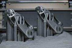 A 3D printed part printed at Voestalpine's Additive Manufacturing Center in Düsseldorf