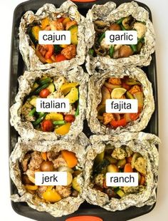 Jump to Recipe Print RecipeMix Match Chicken Foil Packets Paleo Keto six delicious flavor combinations to please the whole crowd Mix and match your favori. Chicken In Foil, Chicken Foil Packets, Oven Chicken, Foil Wrapped Chicken, Oven Shrimp, Baked Shrimp, Keto Chicken, Chicken Recipes, Tin Foil Dinners