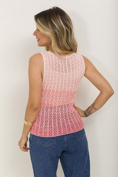 Filet Crochet, Crochet Top, Plus Size, Tank Tops, Knitting, Blouse, Crafts, Women, Fashion