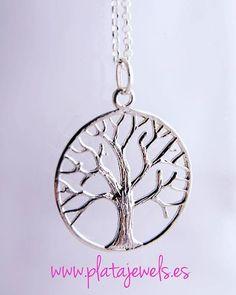 b3c6733abbae Colgante árbol de la Vida en plata de Ley 925. Diseño redondo