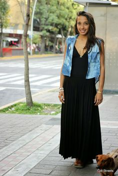 """Denim vest""  - Mexico Street style #cool #spring"