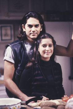 Stone (Michael Sutton) and Robin (Kimberly McCullough) fell in love and celebrated the holidays. - 1990s #GH #GH50