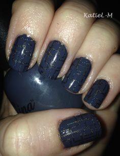 Nina Ink-ling stamped with @ColorClubPolish Beyond #nailart #stamping #nailstamping #holopolish #grey #faburnails