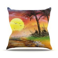 Kess InHouse EBI Emporium Happy Tears 3 Teal Orange Round Beach Towel Blanket