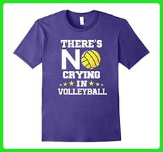 Mens There's No Crying in Volleyball! Funny Volleyball T-Shirt Small Purple - Sports shirts (*Amazon Partner-Link)