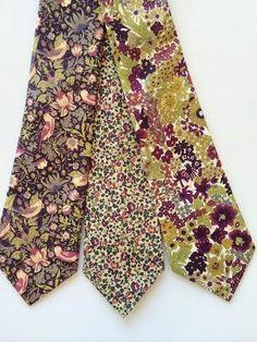 Custom Purple Wedding Ties, Liberty of London Necktie, purple groomsmen tie, purple cotton ties, lavender tie, purple liberty of london tie