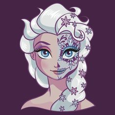 Sugar Skull Series: Elsa by Ellador