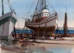 West Coast Drydock – California Watercolor