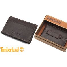 Timberland Brown Antique Leather Flip Case Wallet $15