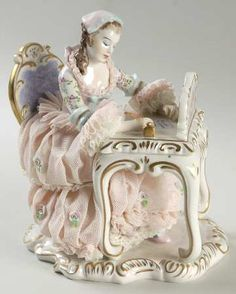 Irish Dresden Figurine - Love Letter