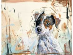 Jack Russell, original painting in watercolour & pastel by James Bartholomew