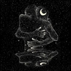 I enjoy this as art By James R Eads Illustration Art And Illustration, Psychedelic Art, Art Inspo, Constellations, Art Sketches, Art Drawings, Rabe Tattoo, Art Amour, Art Couple