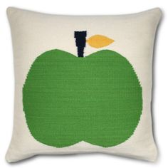 green apple pillow | jonathan adler (perfect for the bedroom + playroom)