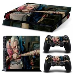 Harley Quinn Skin Sticker For Sony Playstation 4 Console + Controle Cover Decals For Dualshock 4 Games Accessories Buy Stickers, Playstation 4 Console, Gaming Accessories, Miu Miu Ballet Flats, Harley Quinn, Wii, Xbox, Sony, Video Games