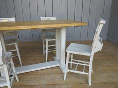 Why not design your own kitchen/dinning table to match some of our antique reclaimed chapel chairs? For more information call the ukaa team on 01543 222 923