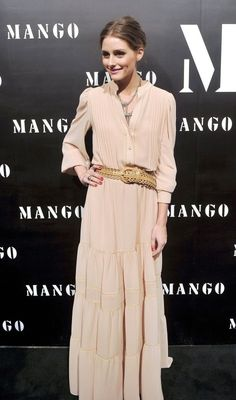 Olivia Palermo wearing Cesare Paciotti Shoes and Mango Dress.
