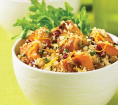 Warm Butternut Squash Salad with Crispy Chickpeas from 500 Best Quinoa Recipes
