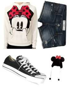 """Minnie Mouse Outfit for a Day at Disneyland"" by brittacupcake on Polyvore"