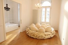 The Giant Birdsnest Bed Evolves Into A Formidable Piece of Furniture.   http://www.ifitshipitshere.com/giant-birdsnest-bed-evolves-formidable-piece-furniture/