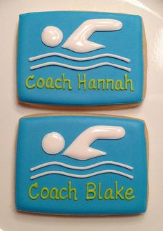 Swim Team Cookies