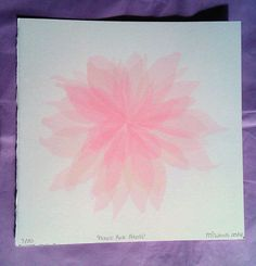 Handmade Limited Edition 'Fragile Pink Petals' Screenprint 25cmx25cm