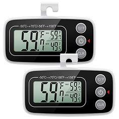 Amazon has the ORIA Refrigerator Thermometer, Digital Indoor Thermometer, Upgraded Version Freezer Fridge Thermometer with Large LCD Display, Max and Min Display for Room, Refrigerator, Kitchen, 2 Pack marked down from $16.99 to $11.04. That is 35% off retail price! TO GET THIS DEAL: GO HERE to go to the product page and click on…