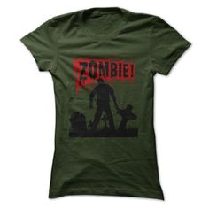 Zombie! And Lots Of Blood T Shirt - many colors to choose from - horror themed tops for women and men