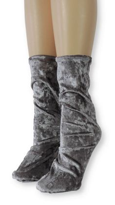 Silver Crushed Velvet Socks is one of the comfortable socks to express your self unique and modern. Make a statement with these luxe velvet crew socks Product Details: Quality Velvet Polyester, Spandex Super Comfy and Absorbent Size US EU Item code Velvet Socks, Crushed Velvet, Crew Socks, Crushes, Comfy, Boots, Silver, Spandex, Modern